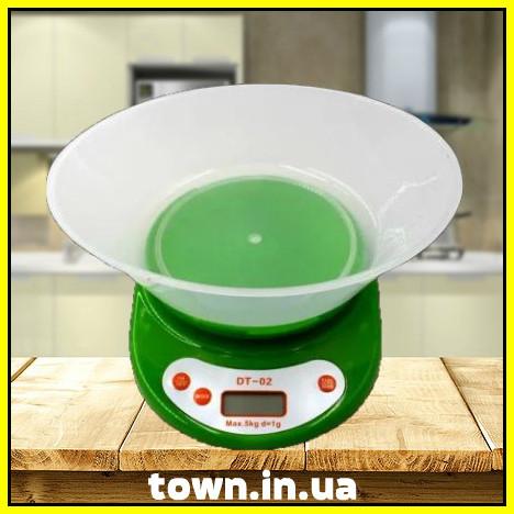 Электронные кухонные весы Domotec DT-02 с чашей | настольные | цифровые