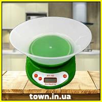Электронные кухонные весы Domotec DT-02 с чашей | настольные | цифровые, фото 1