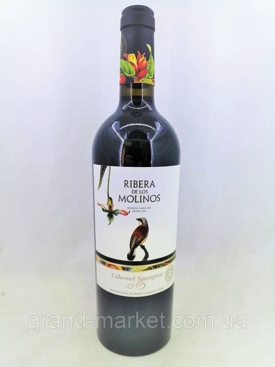Вино червоне Ribera de los Molinos Cabernet Sauvignon 0,75 л.