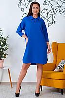 Большое платье-поло с воротничком электрик, фото 1