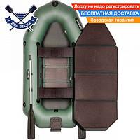 Надувная лодка Bark B-250KND с транцем, слань-книжкой и сдвижными сиденьями, двухместная
