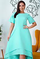 Шикарное платье для полных Каскад ментол, фото 1