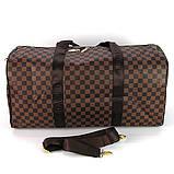 Коричнева жіноча дорожня сумка lv-366 bro спортивна на плече для речей, фото 2