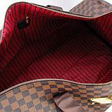 Коричнева жіноча дорожня сумка lv-366 bro спортивна на плече для речей, фото 3
