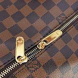 Коричнева жіноча дорожня сумка lv-366 bro спортивна на плече для речей, фото 4