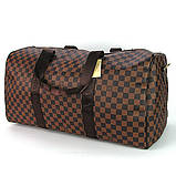 Коричнева жіноча дорожня сумка lv-366 bro спортивна на плече для речей, фото 5