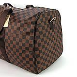 Коричнева жіноча дорожня сумка lv-366 bro спортивна на плече для речей, фото 7