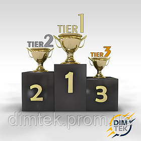 Рейтинги Tier 1, Tier 2 та Tier 3.