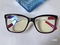 Женские очки для компьютера, квадратные компьютерные очки ЕАЕ 2105 черные / красные / белые, фото 1