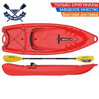 Корпусный каяк SF-2002 двухместный + весло, sit-on-top, HDPE-RM, красный, 238 см