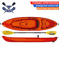 Корпусный каяк SF-1010 одноместный + весло, sit-on-top, HDPE-RM, красный, 266 см