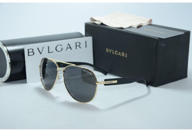 Солнцезащитные очки унисекс Bvlgari  (black-gold )