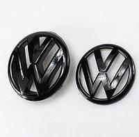 Эмблема решетки и багажника Volkswagen Golf 6 чёрная глянец, фото 1