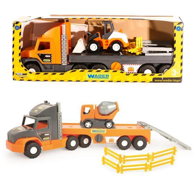 Машина Super Tech Truck с бульдозером