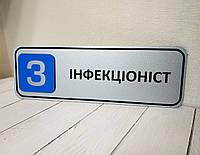 Табличка кабінетна з об'ємним номером