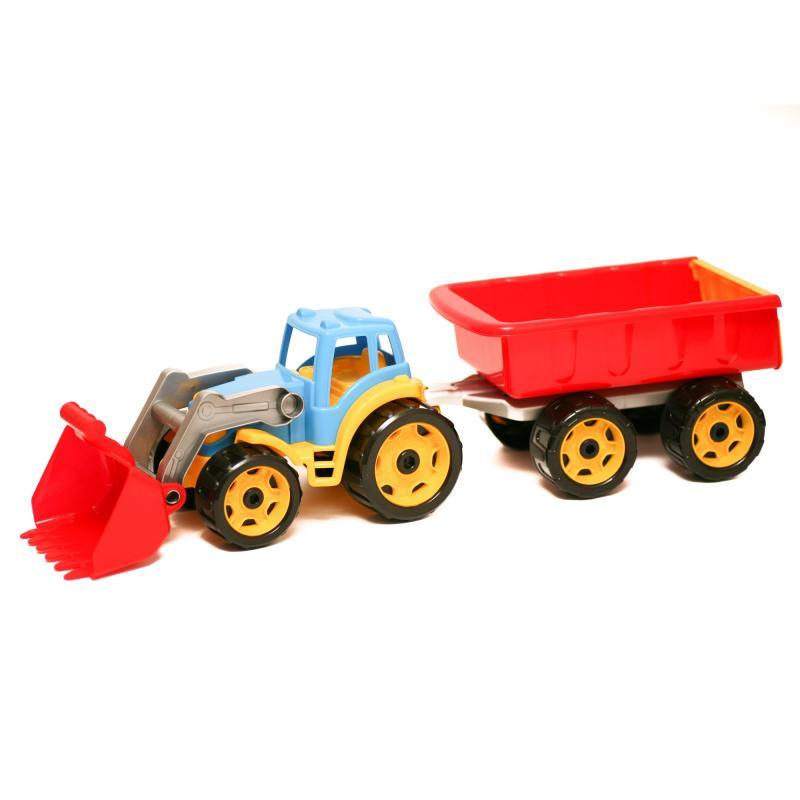 "Игрушка ""Трактор с ковшом и прицепом """
