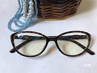 Коричневые компьютерные очки,  Женские очки для компьютера, лисички. Модель ЕАЕ 2106 коричневые, фото 1