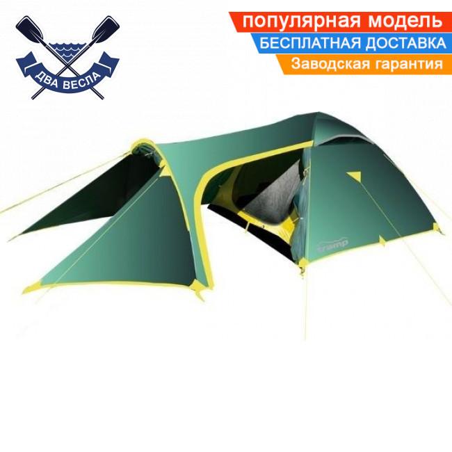 Трехсезонная палатка Grot (V2) трехместная (3+1) 490х220х130 см, 5,3 кг, 3 входа