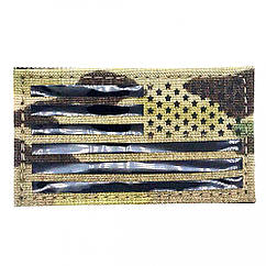 ПВХ Патч USA FLAG REVERSE - Multicam