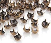 Заклепки, крабики конусные, 8 мм, бронза, фото 1
