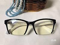 Женские компьютерные очки в полуоправе, очки для компьютера. Модель  ЕАЕ 2129 черные / белые, фото 1
