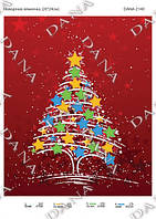 """Схема под бисер """"Новогодняя елка"""""""