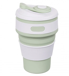 Чашка складная силиконовая Collapsible 5332 350мл, зеленая