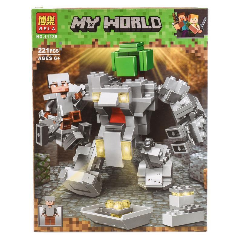 """Конструктор Bela Minecraft """"Робот Титан"""" 221 деталей"""