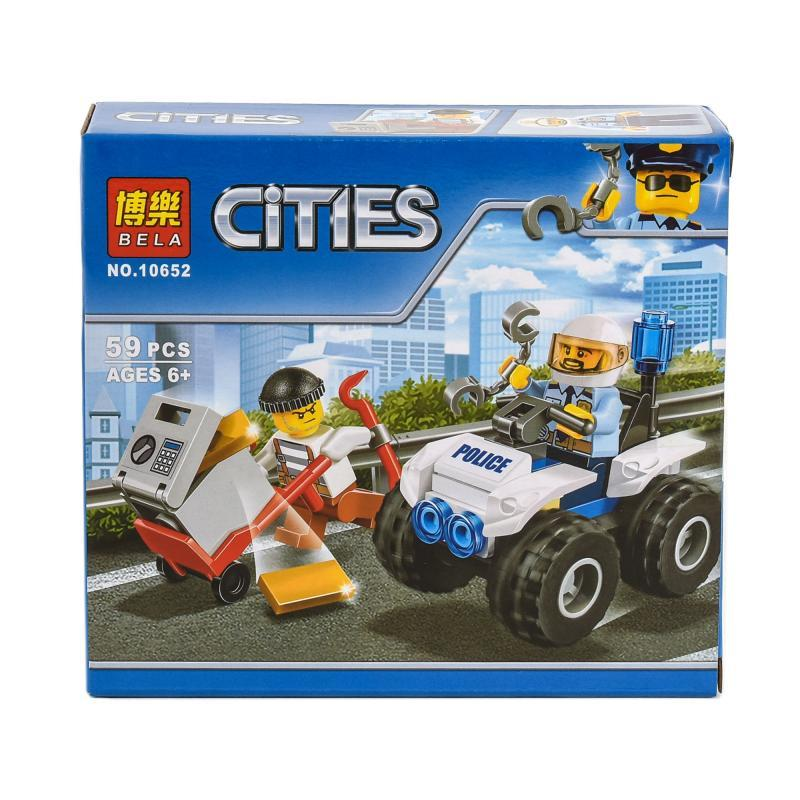 """Конструктор Bela Cities """"Полицейский квадроцикл""""59 деталей"""