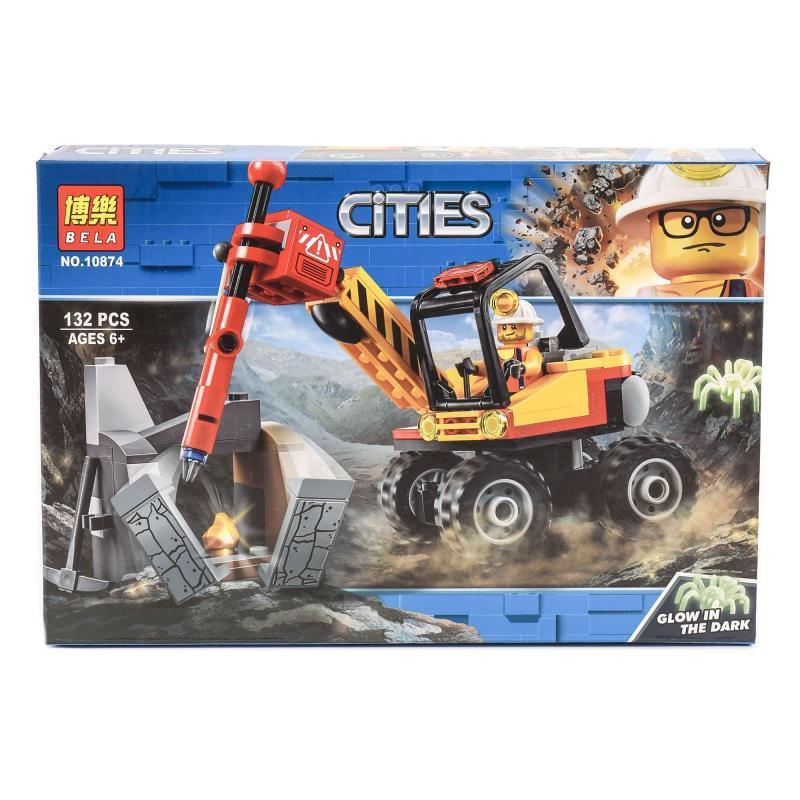 """Конструктор Bela Cities """"Мощный горный разделитель"""" 132 детали"""