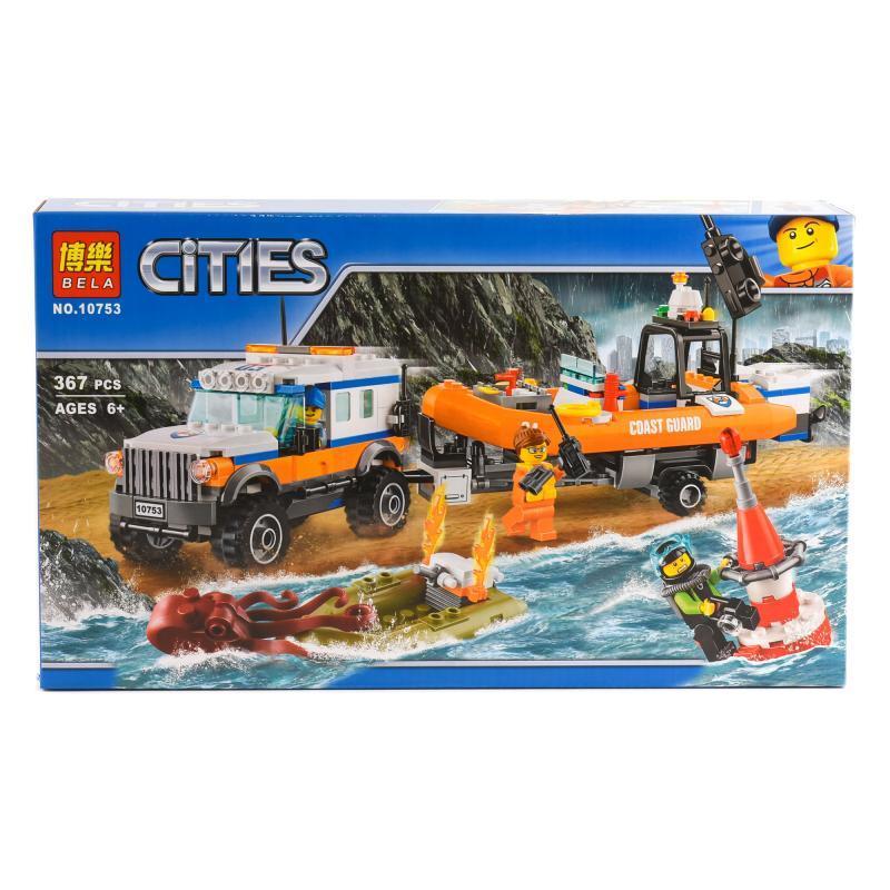 """Конструктор Bela Cities """"Команда быстрого реагирования"""" 367 деталей"""