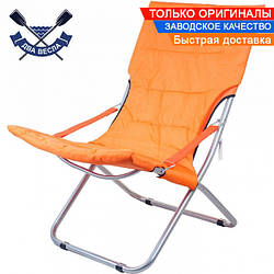 Складной шезлонг Comfort до 120 кг со съемным матрацем на липучке, сиденье 48х62 см, 3,4 кг, каркас сталь