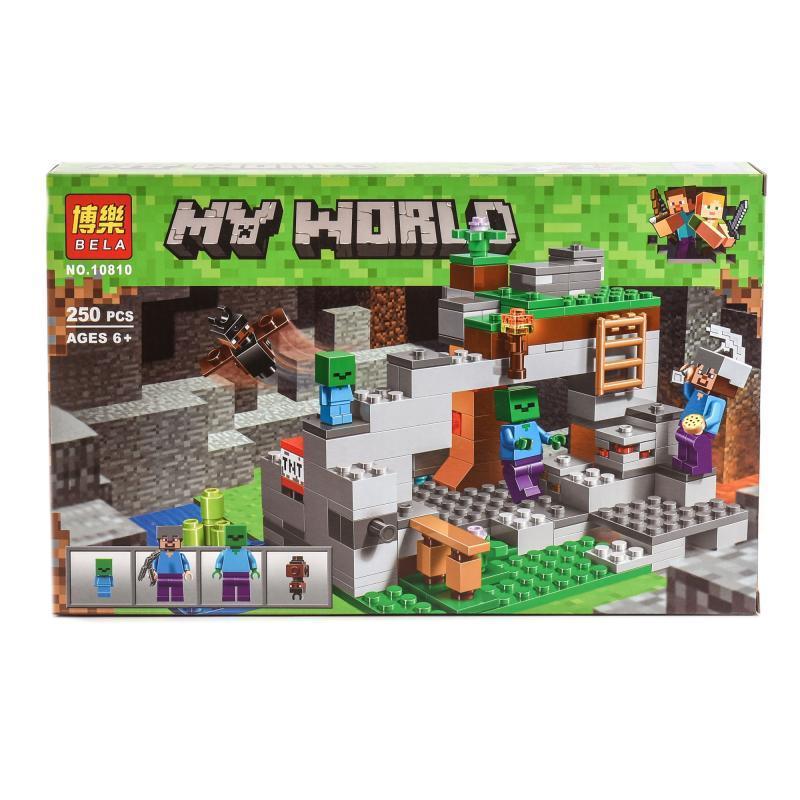 """Конструктор Bela Minecraft """"Пещера зомби"""" 250 деталей"""