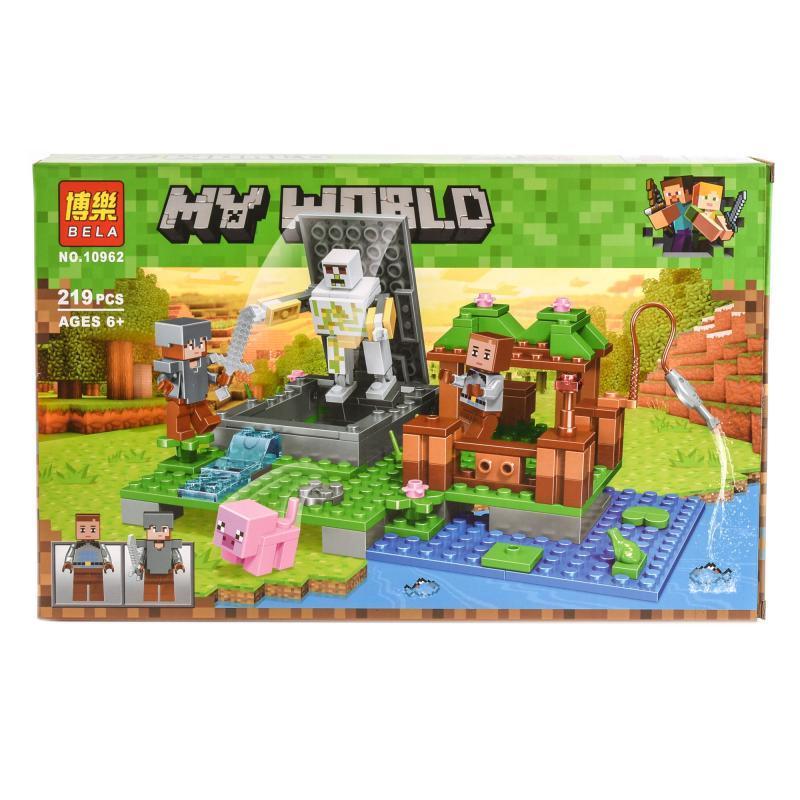 """Конструктор Bela Minecraft """"Голем на ферме"""" 219 деталей"""