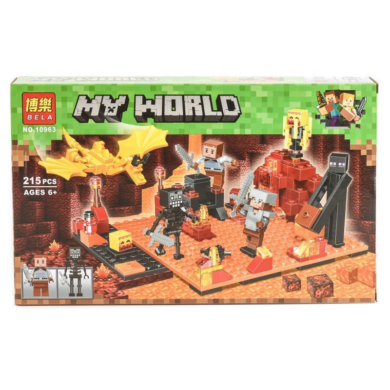 """Конструктор Bela Minecraft """"Нападение в нижнем мире"""" 215 деталей"""