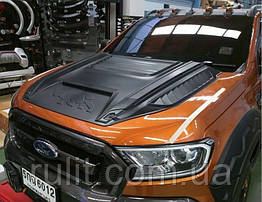 Ford Ranger T6 T7 2015+ накладка на капот стиль Rhino
