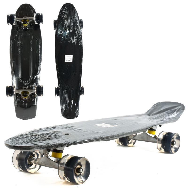 Скейт Пенни Большой со светящимися колесами ПУ