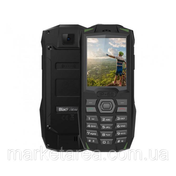 Телефон защищенный, водонепроницаемый блеквью с большим дисплеем на 2 сим карты Blackview BV1000 Green