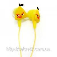 """Наушники """"Angry Birds"""" желтая птичка"""
