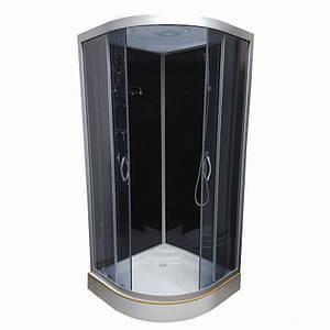 Гідромасажний бокс Atlantis 80х80х15 Black, AKL 1325P-T ECO (GR)