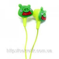 "Наушники ""Angry Birds"" зеленый свин"