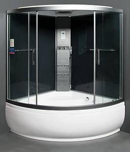 Парова кабіна з гідромасажною ванною POLARIS 150х150х55, Prestige-150