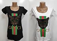 Футболка женская бренд арт 057 Турция черная L, XL,белая XL., фото 1