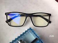 Очки для компьютера, квадратные компьютерные очки,Модель 2145 черные матовые, фото 1