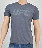 Мужская футболка UFC Reebok(реплика) Пепел+серый