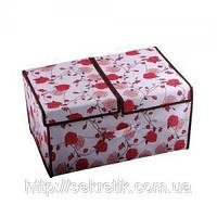 Тканевая шкатулка для вещей(цвет розовый), фото 1