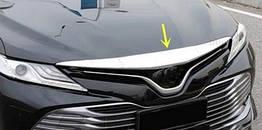 Toyota Camry XV70 2018+ хром накладка на кромку капота
