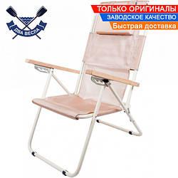 Складной шезлонг Comfort до 140 кг съемная подушка 4 положения наклона спинки чехол сиденье 41,5х45,5см, сталь