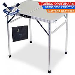 Складной стол Slim до 40 кг столешница 5х60х90 см, алюминий, ламинированный ДВП, чехол