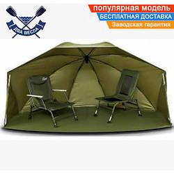 Палатка зонт OVAL BROLLY регулировка высоты 120х250х240 см алюминий 11кг крепления съемный пол